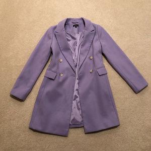 Topshop Naomi Purple Lilac Wool Coat